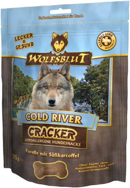 Wolfsblut Cold River Hundesnack Cracker, mit Forelle, 225g