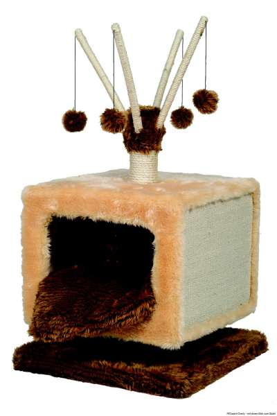 Nobby Kratzbaum Robin, beige-braun, 50x50x90cm