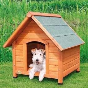 natura Hundehütte mit Satteldach