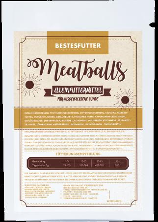 Bestesfutter Meatballs | gluten- & getreidefreies Hundefutter