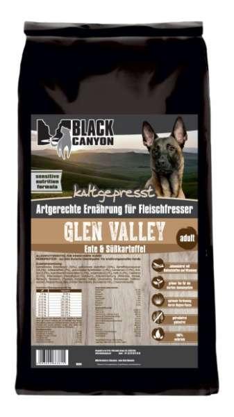 Black Canyon Glen Valley | mit Ente & Süßkartoffel | 15 kg kaltgepresstes Hundefutter