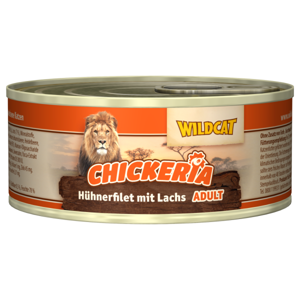 Wildcat Chickeria Adult Cat | mit Hühnerfilet & Lachs | 6x90g