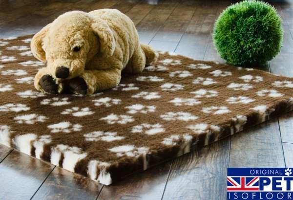 Pet Isofloor SX | braun-weißer Hundeteppich