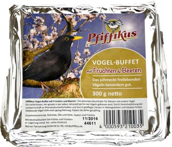 Pfiffikus Vogelbuffet mit Früchten   Vogelfutter