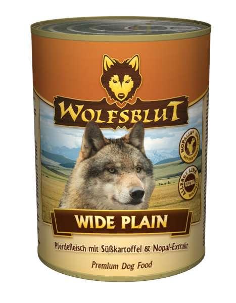 Wolfsblut Wide Plain pure | mit Pferdefleisch | 6x395g Hundefutter