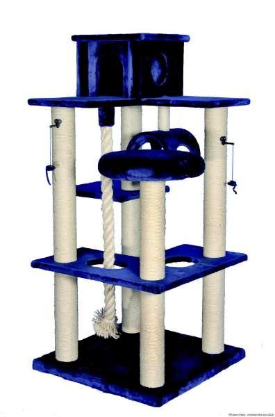 Nobby Kratzbaum Puma, blau, 80x80x174cm