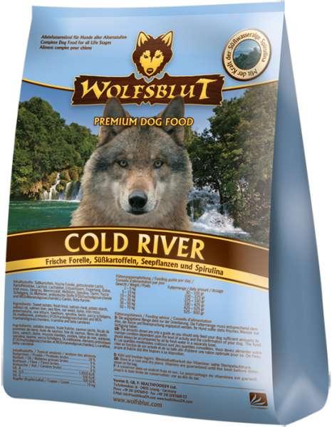 Wolfsblut Cold-River, mit Süßkartoffel & Forelle