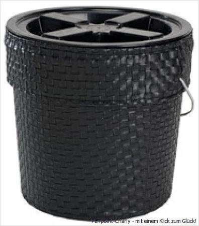 Futterbox, schwarz, 25x24cm, 4 kg-Fassungsvermögen