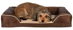 Hundebett Kuno, braun-beige