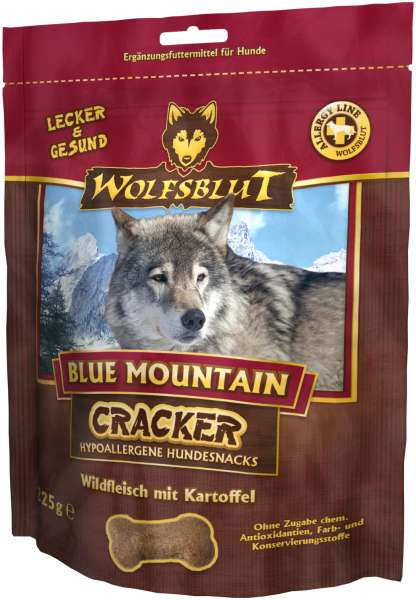 Wolfsblut Blue Mountain Hundesnack Cracker, mit wildfleisch, 225g