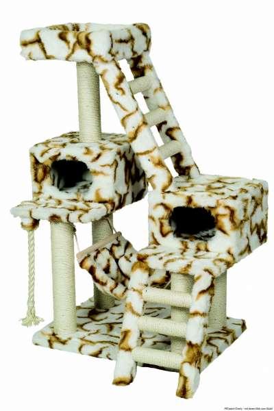 Nobby Kratzbaum Felina, weiß-caramel, 77x57x137cm