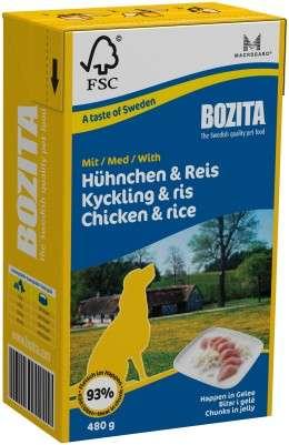 Bozita Häppchen in Gelee Hühnchen & Reis, 6x480g