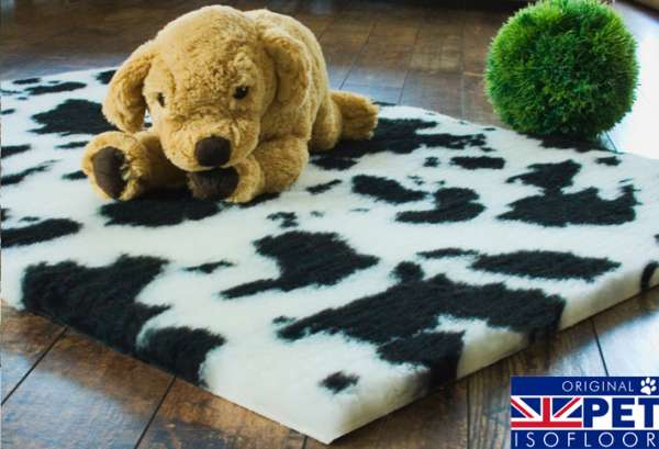 Pet Isofloor SX   Hundeteppich im Kuh Design