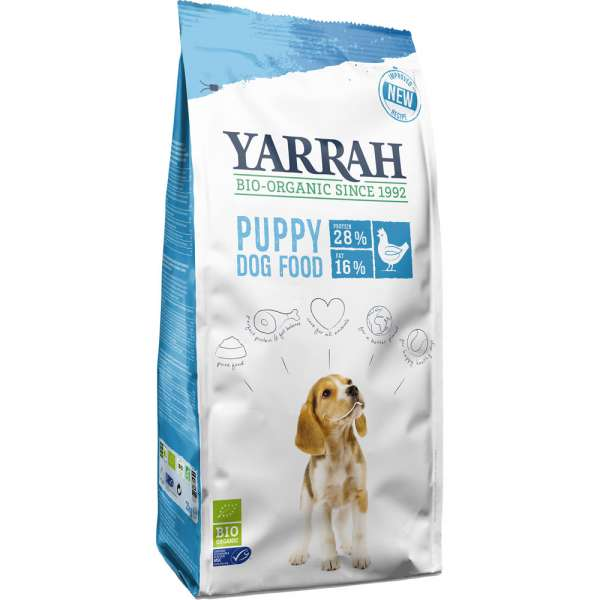 Yarrah Welpe | mit Huhn | Bio Hundefutter