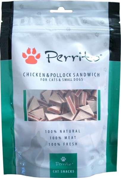 Perrito Hundesnack, Chicken & Pollock Sandwich, small, 100g