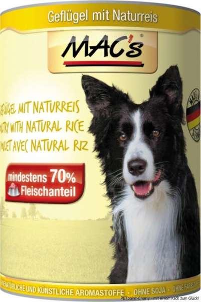 MACs Adult Dog, Geflügel & Reis