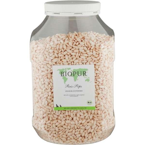 BIOPUR Reispops | Vegan & Glutenfrei | 600g Klarsichtbox