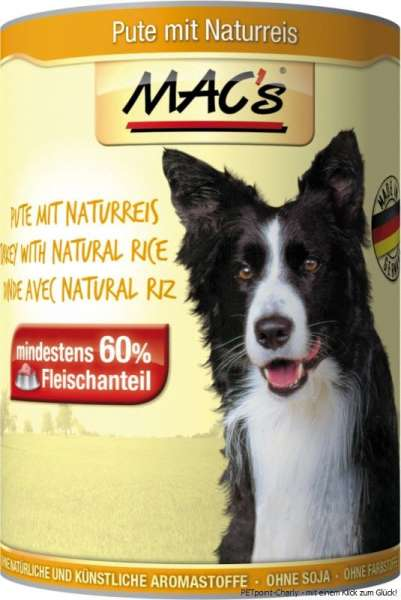 MACs Adult Dog, Pute & Naturreis