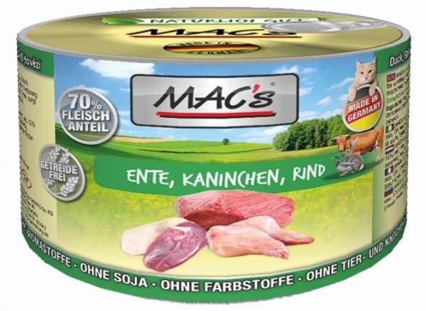 MACs Adult Cat | mit Ente, Kaninchen & Rind | Katzenfutter