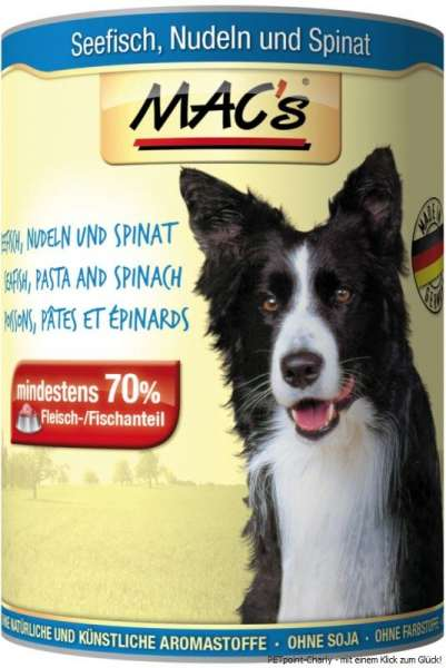 MACs Adult Dog, Fisch, Nudeln & Spinat