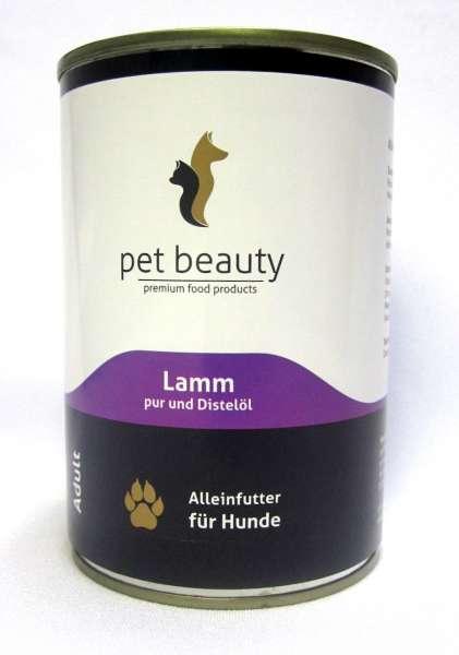 pet beauty, mit lamm pur & Distelöl, 6x400g