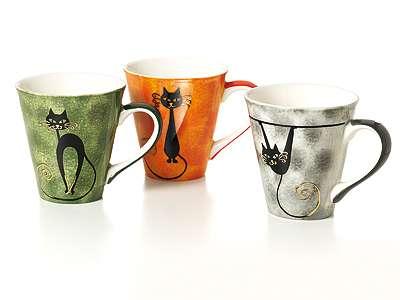 Becher Mitsy | Keramik mit Goldauflage | 6-fach sortiert | 0.25 Liter