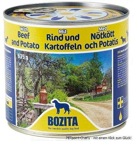 Bozita Rind & Kartoffeln, 6x635g
