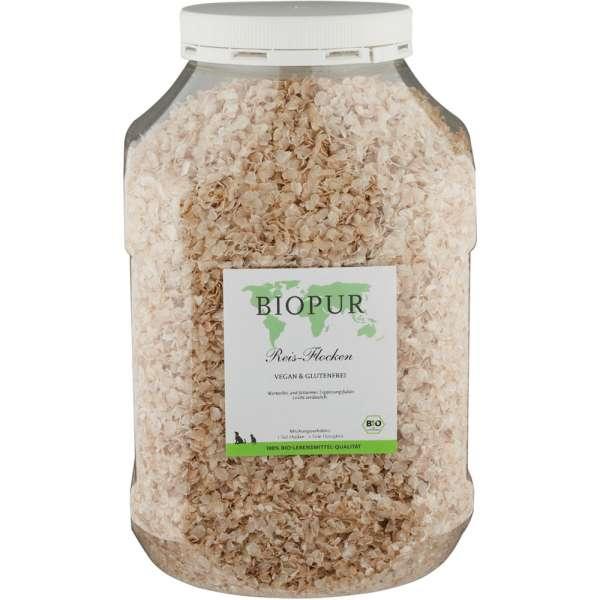 BIOPUR Reisflocken | 2 kg Klarsichtbox