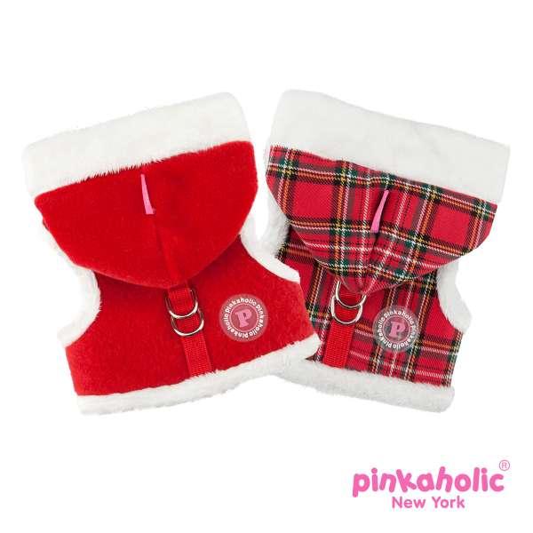 Pinkaholic ® Santa Pinka Hundejacke | Hundemantel