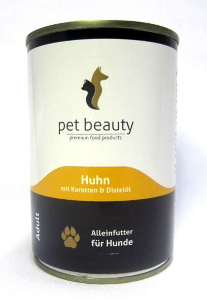 pet beauty, mit Huhn, Karotten & Distelöl, 6x400g