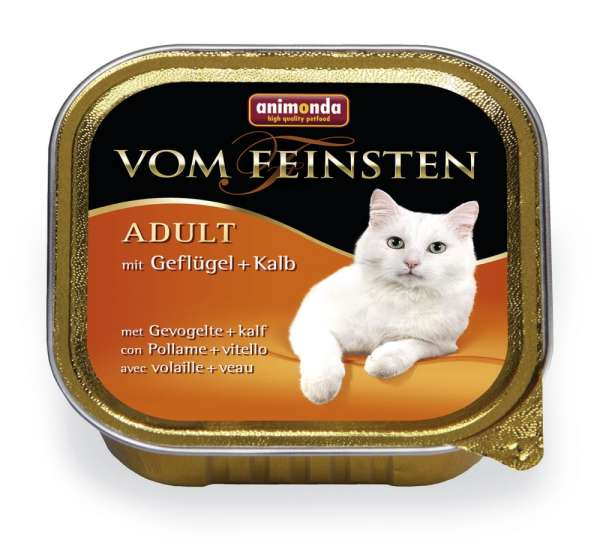 Animonda Vom Feinsten Adult-Cat   mit Geflügel & Nudeln   6x100g