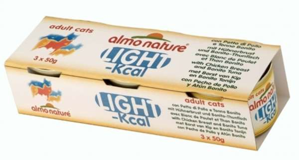 Almo Nature Light | mit Hühnerbrust & Thunfisch | 2x(3x50g)