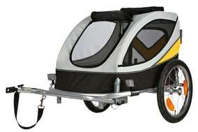 Fahrrad-Anhänger, grau-schwarz-gelb