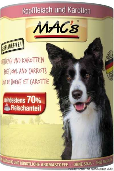 MACs Adult Dog, Kopffleisch & Karrotten